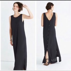 Madewell lakeshore button-back black dress